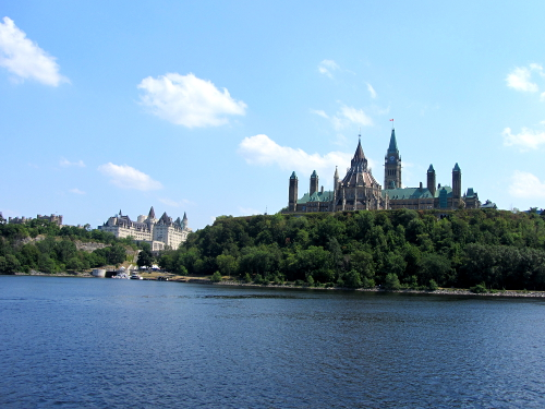 Parliament Buildings from the Ottawa River