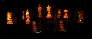 Chess set at Pumpkinferno