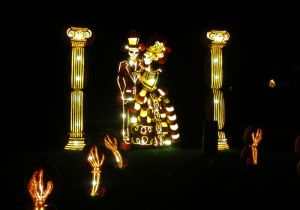 Bride and groom at Pumpkinferno