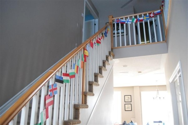 Stairs With Flags