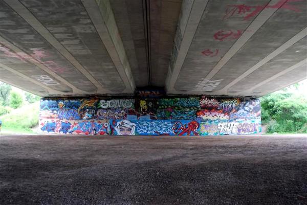 Graffiti wall at Brewer Park.
