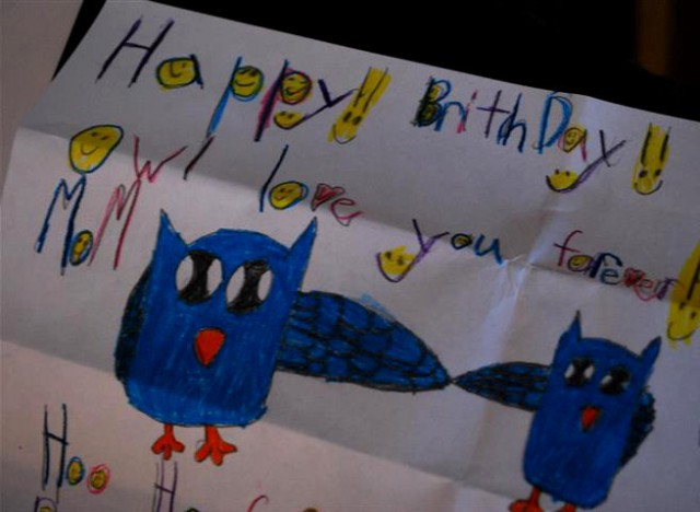 Handmade card from my youngest.