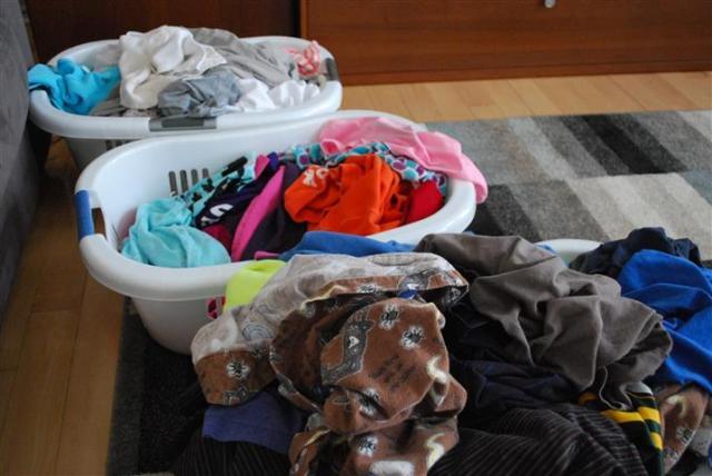 Laundry waits for no birthday.